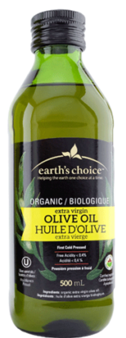 Earth's Choice: Organic Extra Virgin Olive Oil (500 mL)