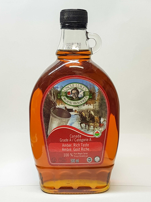 Uncle Lukes: Organic Maple Syrup - Grade A Amber (500 mL)
