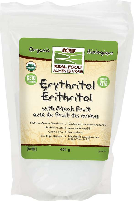Now Foods: Erythritol w/ Monk Fruit (454g)