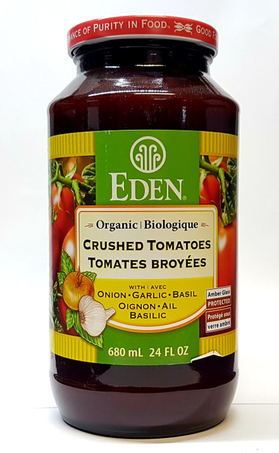 Eden: Organic Crushed Tomatoes w/ Onion, Garlic & Basil (680ml)