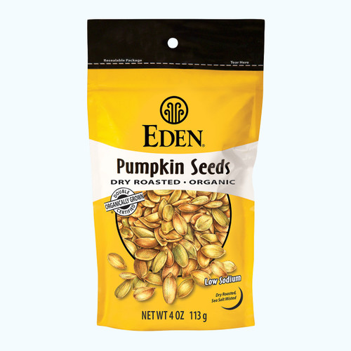 Eden: Organic Dry-Roasted Pumpkin Seeds