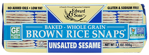 Edward & Sons: Brown Rice Snaps - Unsalted