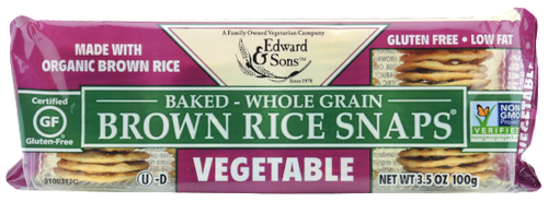 Edward & Sons: Brown Rice Snaps - Vegetable