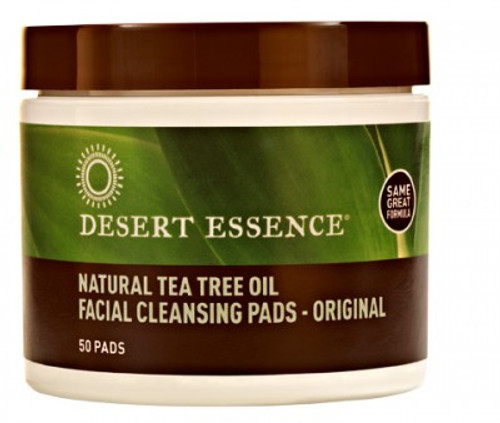 Desert Essence: Tea Tree Oil Facial Cleansing Pads - Original (50ct)