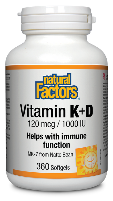 Natural Factors: Vitamin K & D (360 SGels)