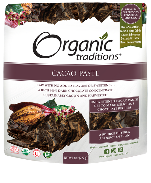 Organic Traditions: Organic Cacao Paste (227g)