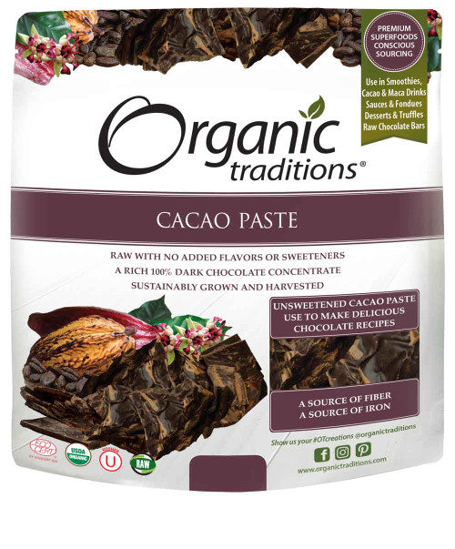 Organic Traditions: Organic Cacao Paste (454g)
