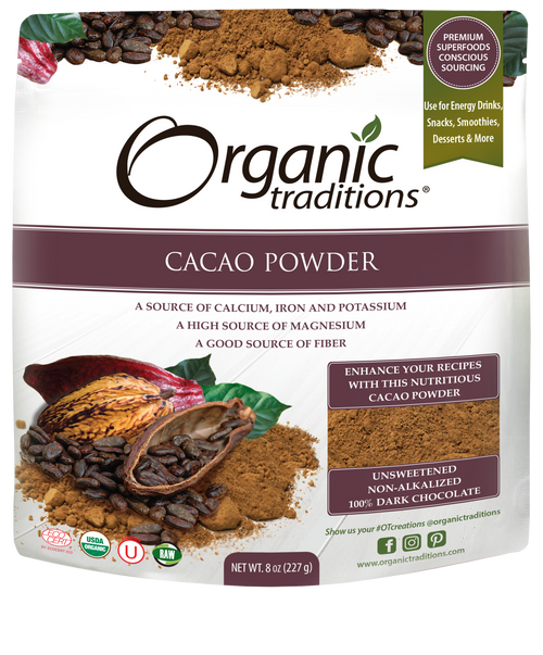 Organic Traditions: Organic Cacao Powder (227g)