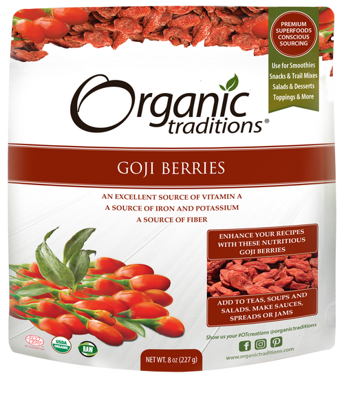 Organic Traditions: Organic Goji Berries (227g)