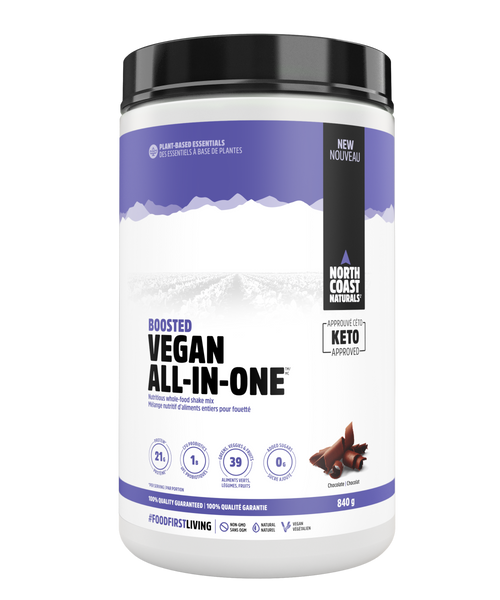 North Coast Naturals: Boosted Vegan All-In-One - Chocolate (840g)