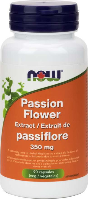 Now: Passion Flower Extract 350mg (90 Vcaps)