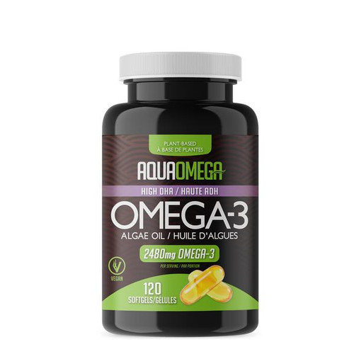 AquaOmega: Omega-3 Algae Oil (120 sgels)