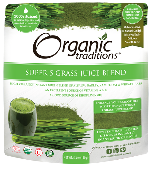 Organic Traditions: Super 5 Grass Juice Blend