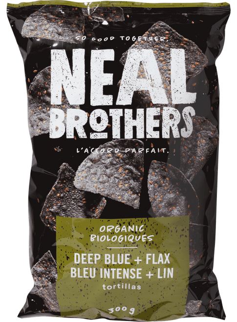 Neal Brothers: Organic Deep Blue+Flax Tortilla Chips