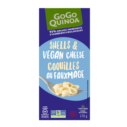 GoGo Quinoa: Shells & Vegan Cheese