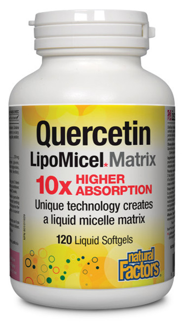 Natural Factors: LipoMicel Quercetin (120 sgels)