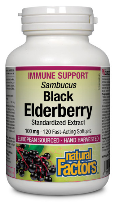 Natural Factors: Black Elderberry (120 sgels)