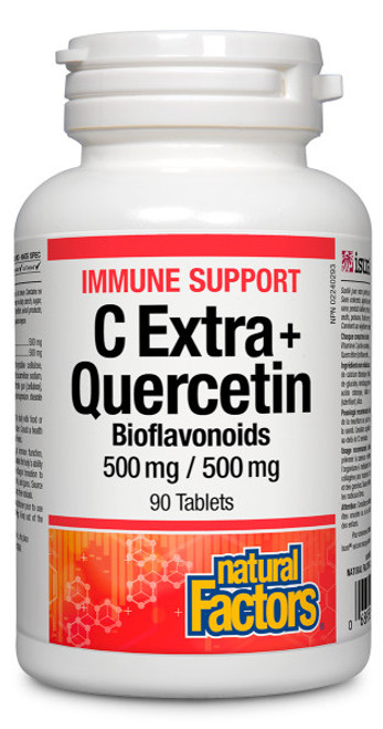 Natural Factors: C Extra + Quercetin (90 Tabs)