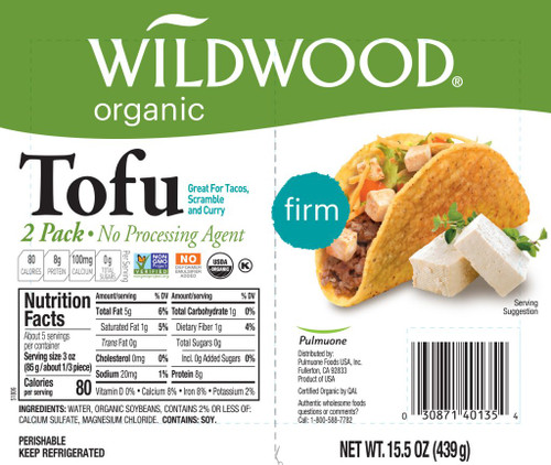 Wildwood: Organic Tofu - Firm