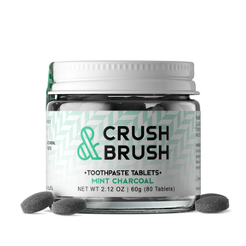 Crush & Brush Toothpaste - Mint Charcoal