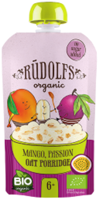 Rudolfs: Organic Mango, Passion Fruit Oat Porridge