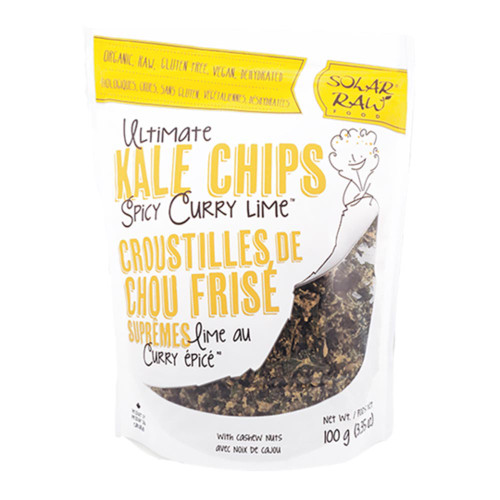 Solar Raw: Ultimate Kale Chips - Spicy Curry Lime