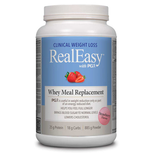 Natural Factors: RealEasy w/ PGX Whey Meal Replacement - Strawberry