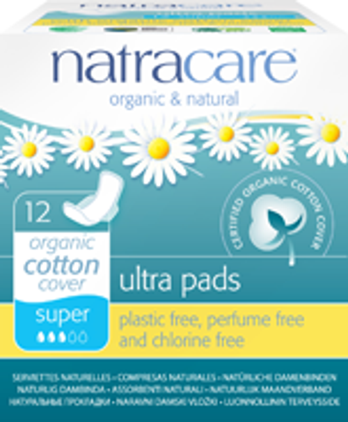 Natracare: Super Ultra Pads (12 Count)