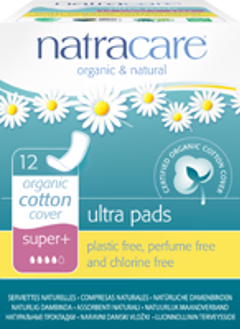 Natracare: Super+ Ultra Pads (12 Count)
