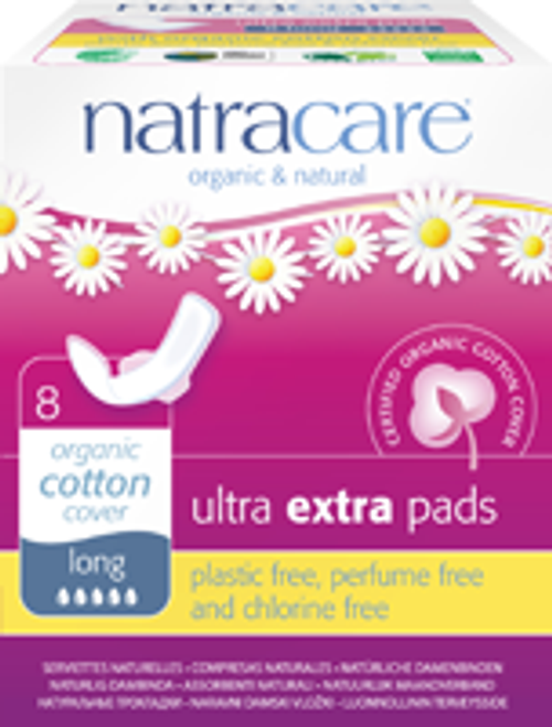 Natracare: Long Ultra Extra Pads (8 Count)