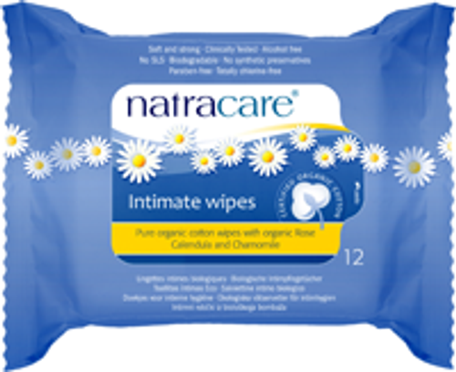 Natracare: Organic Cotton Intimate Wipes (12 Count)