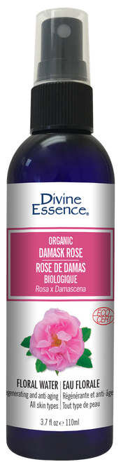 Divine Essence: Organic Damask Rose Floral Water (110ml)