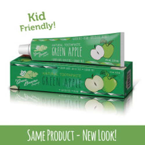 The Green Beaver Company: Green Apple Natural Toothpaste (75ml)