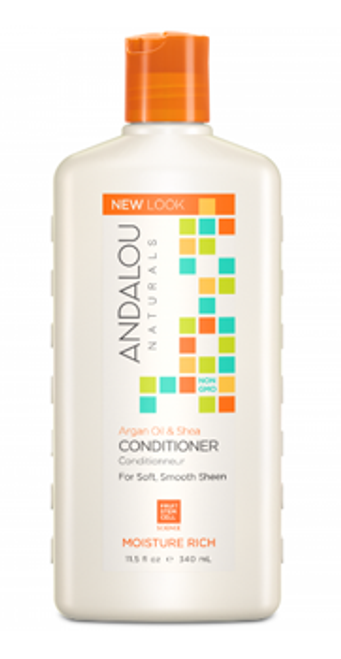 Andalou Naturals: Moisture Rich Conditioner - Argan Oil and Shea (340ml)