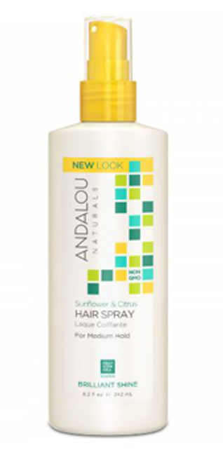 Andalou Naturals: Sunflower & Citrus Brilliant Shine Hair Spray - Medium Hold (242ml)