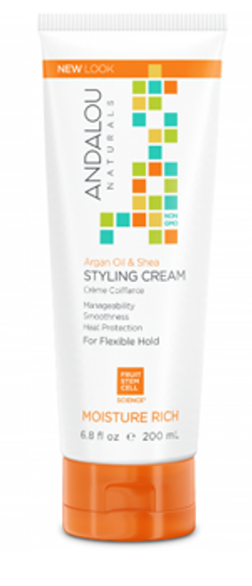 Andalou Naturals: Moisture Rich Styling Cream - Argan Oil and Shea (200ml)