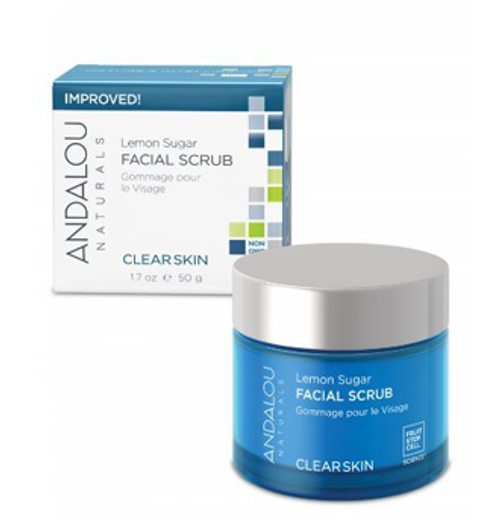 Andalou Naturals: Clear Skin Lemon Sugar Facial Scrub (50g)