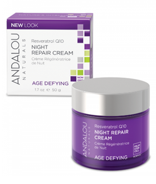 Andalou Naturals: Resveratrol Q10 Age Defying Night Repair Cream (50g)