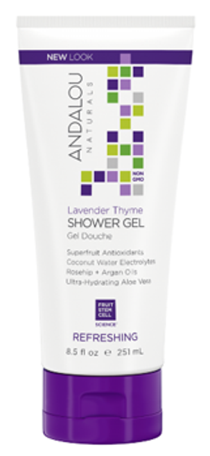 Andalou Naturals: Lavender Thyme Refreshing Shower Gel (251ml)