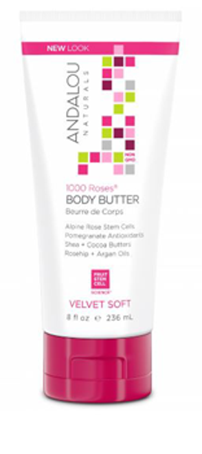 Andalou Naturals: 1000 Roses Velvet Soft Body Butter (236ml)