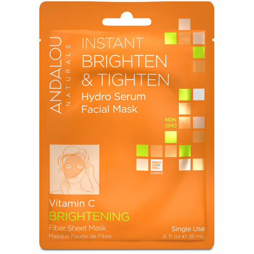 Andalou Naturals: Instant Brighten & Tighten Hydro Serum Facial Mask (18ml)