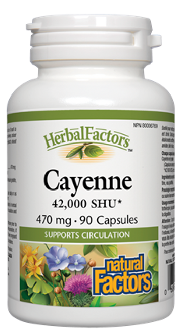 Natural Factors: Cayenne Extract (470mg) (90 Capsules)