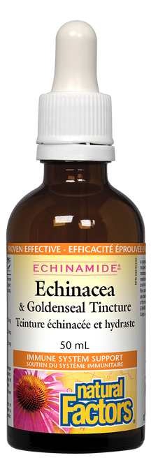 Natural Factors: Echinacea Anti-Cold & GoldenSeal Tincture (50ml)