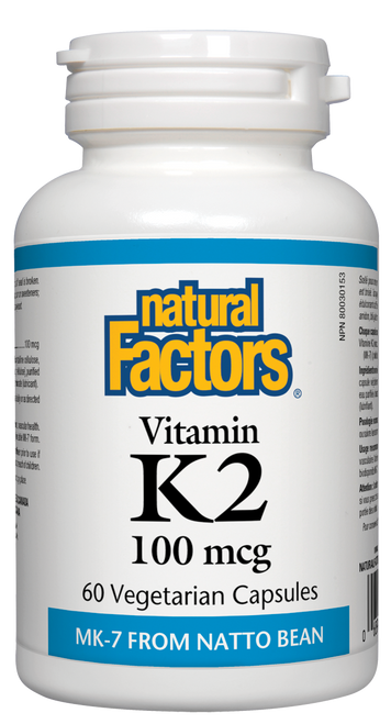 Natural Factors: Vitamin K2 (100Mcg) (60 Vegetarian Capsules)