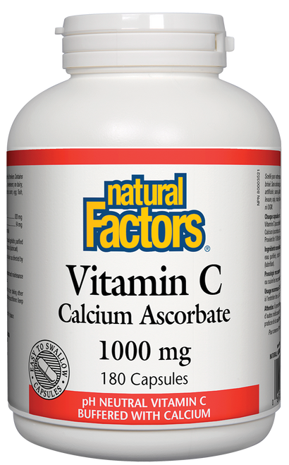 Natural Factors: Vitamin C Calcium Ascorbate (1000mg) (180 Capsules)