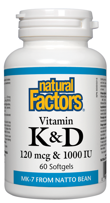Natural Factors: Vitamin K & D (60 SoftGels)