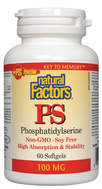 Natural Factors: PS Phosphatidylserine (100mg) (60 Softgels)