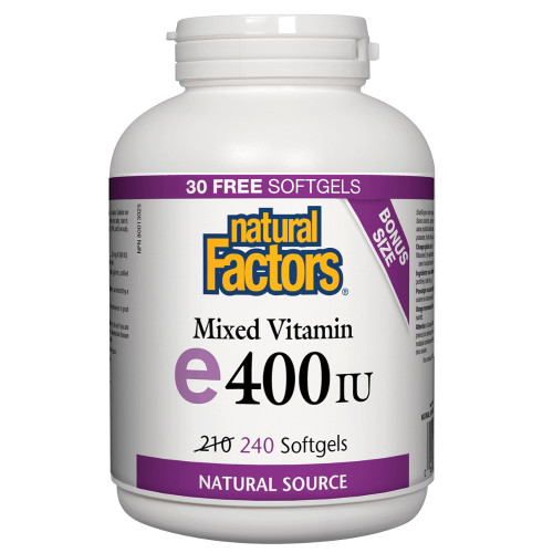 Natural Factors: Vitamin E Mixed (400iu) (Bonus Size)