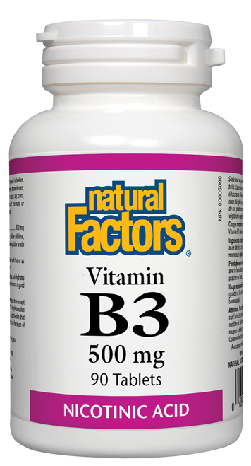 Natural Factors: B-3 (500mg) (90 Tablets)