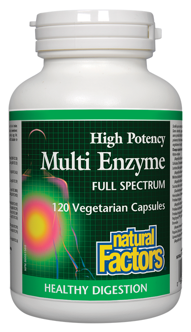 Natural Factors: High Potency Multi Enzyme (120 Vegetarian Capsules)
